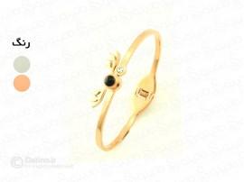 دستبند زنانه دوستت دارم به صد زبان دنیا طرح شاخ گوزن خاکستری 10073
