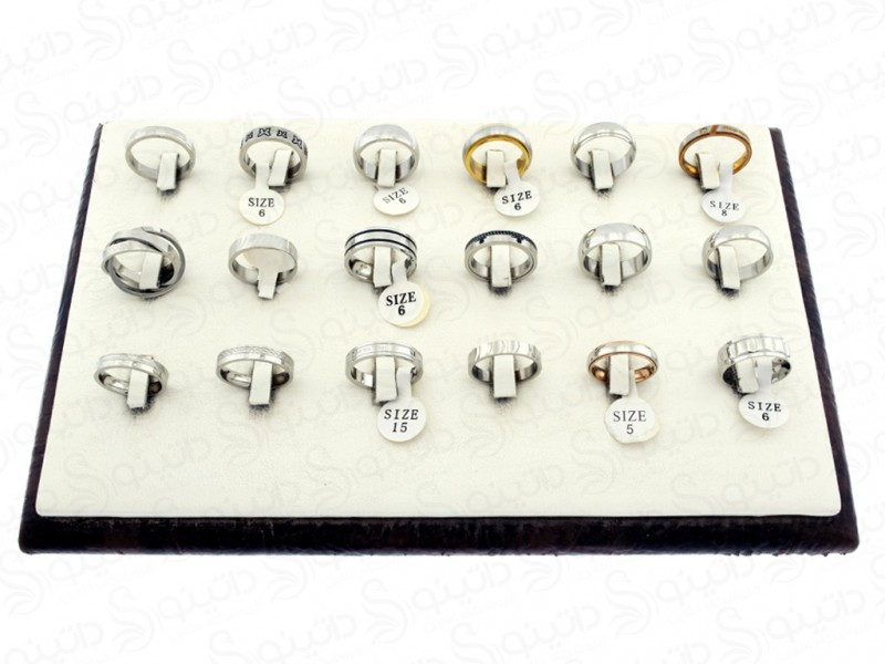 عکس حلقه استیل نامزدی عمده 12167 - انواع مدل حلقه استیل نامزدی عمده 12167