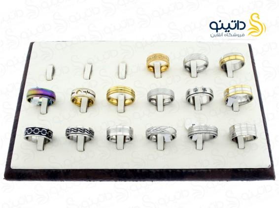 عکس حلقه استیل لوکس عمده 12168 - انواع مدل حلقه استیل لوکس عمده 12168