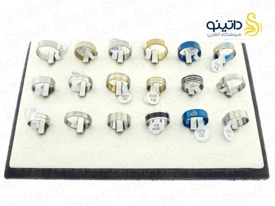 عکس حلقه استیل طرح دار عمده 12170 - انواع مدل حلقه استیل طرح دار عمده 12170