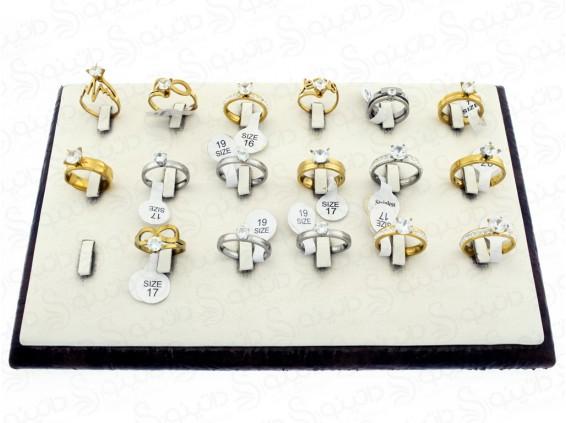 عکس حلقه استیل نگین دار نامزدی عمده 12175 - انواع مدل حلقه استیل نگین دار نامزدی عمده 12175