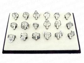 حلقه استیل طرح دار لیزری عمده 12176