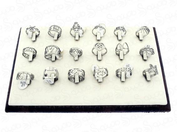 عکس حلقه استیل طرح دار لیزری عمده 12176 - انواع مدل حلقه استیل طرح دار لیزری عمده 12176