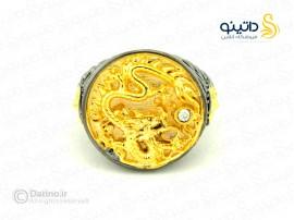 انگشتر مردانه قدرت اژدهای طلایی gothic-r-14