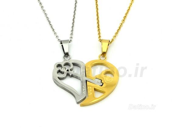 عکس گردنبند جفت کلید عشق-Zarrin.N.33 - انواع مدل گردنبند جفت کلید عشق-Zarrin.N.33