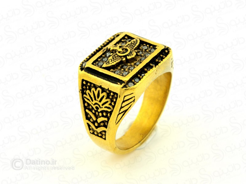 عکس انگشتر مردانه فروهر آریامنش zarrin-r-65 - انواع مدل انگشتر مردانه فروهر آریامنش zarrin-r-65