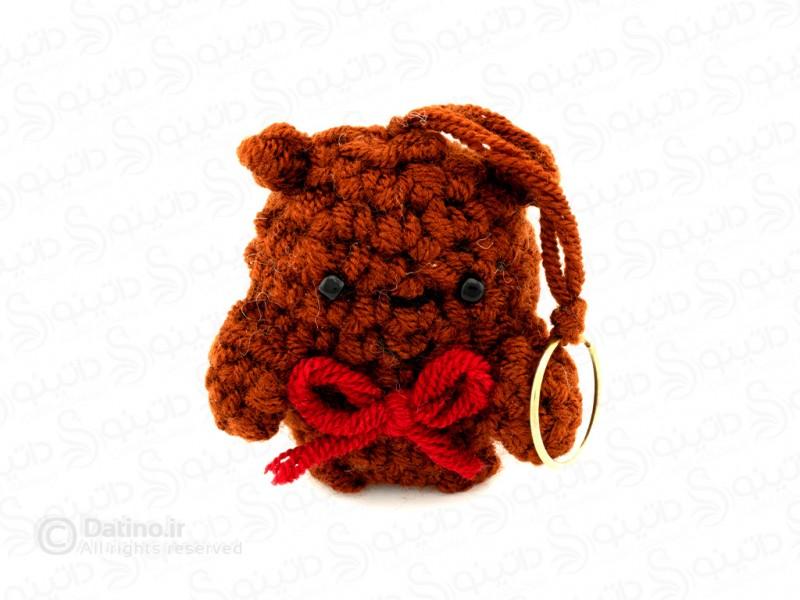 عکس جاکلیدی بافتنی آقا خرسه accessory-10023 - انواع مدل جاکلیدی بافتنی آقا خرسه accessory-10023