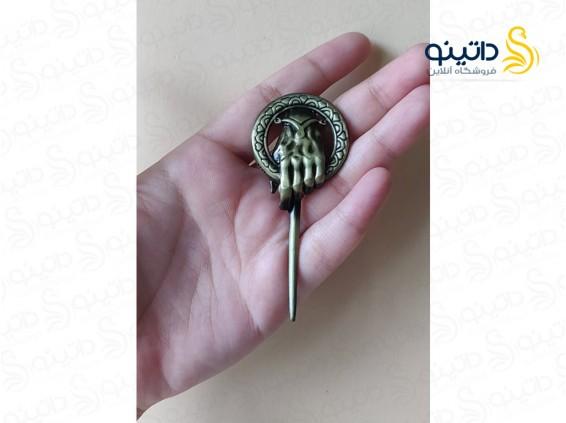 عکس سنجاق سینه بازی تاج و تخت نماد دست پادشاه 10111 - انواع مدل سنجاق سینه بازی تاج و تخت نماد دست پادشاه 10111