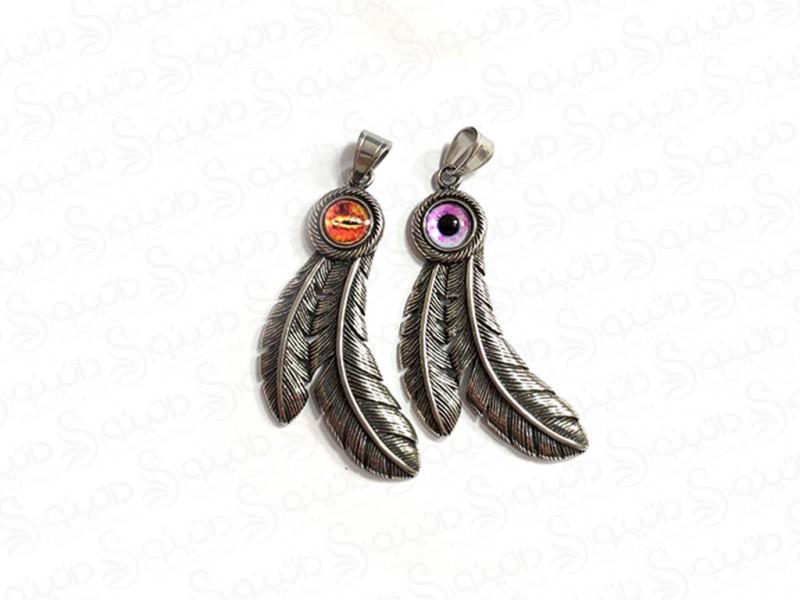 عکس گردنبند مردانه پر و چشم اژدها jewellery-10010 - انواع مدل گردنبند مردانه پر و چشم اژدها jewellery-10010