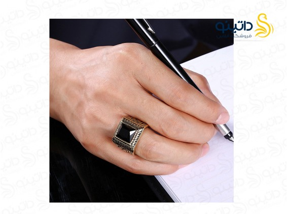 عکس انگشتر مردانه لوکس سیندری 10080 - انواع مدل انگشتر مردانه لوکس سیندری 10080