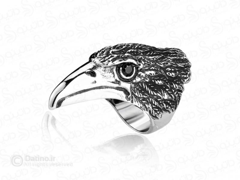عکس انگشتر مردانه عقاب چشم سرخ-Gomaya.R.14 - انواع مدل انگشتر مردانه عقاب چشم سرخ-Gomaya.R.14