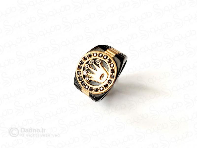 عکس انگشتر مردانه طرح ساعت رولکس 11748 - انواع مدل انگشتر مردانه طرح ساعت رولکس 11748