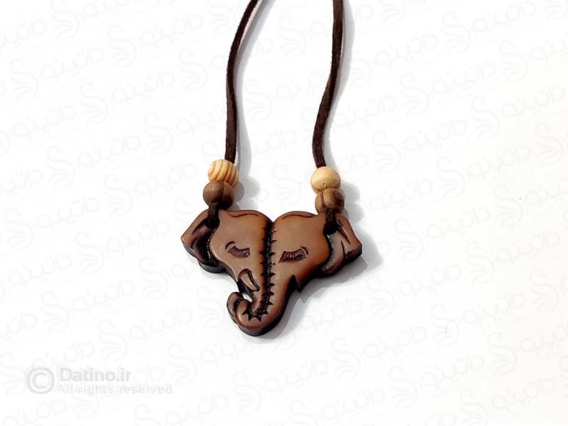 عکس گردنبند چوبی فیل هندی 11754 - انواع مدل گردنبند چوبی فیل هندی 11754