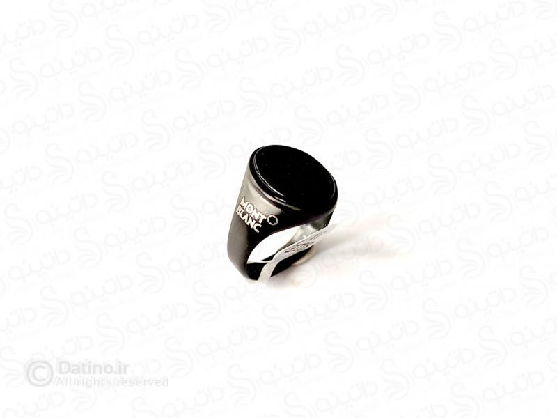 عکس انگشتر مردانه مونت بلانک گریک 11784 - انواع مدل انگشتر مردانه مونت بلانک گریک 11784