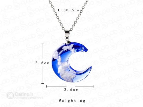 عکس گردنبند زنانه ماه رویای آسمان آبی 11792 - انواع مدل گردنبند زنانه ماه رویای آسمان آبی 11792