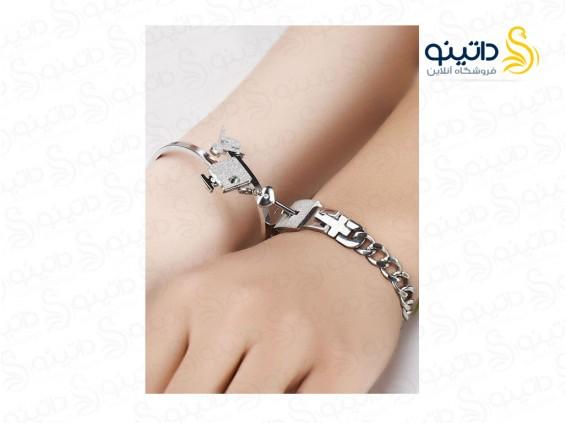 عکس ست دستبند قفل و کلید عشق جفت مردانه و زنانه  11796 - انواع مدل ست دستبند قفل و کلید عشق جفت مردانه و زنانه  11796