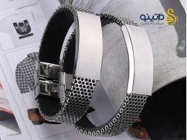 دستبند اسپرت استیل لوگان 12105