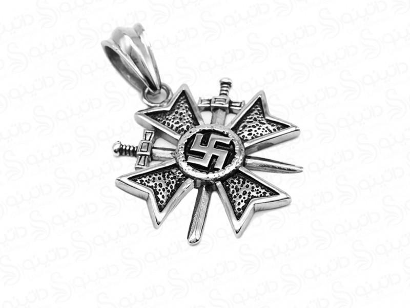 عکس گردنبند مدال سواستیکا نازی آلمان 12141 - انواع مدل گردنبند مدال سواستیکا نازی آلمان 12141