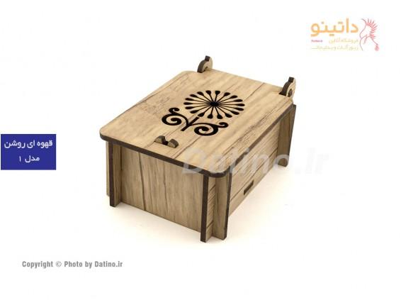 عکس جعبه چوبی نیم ست طرح گل - انواع مدل جعبه چوبی نیم ست طرح گل