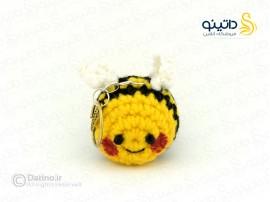 آویز جاکلیدی بافتنی زنبور عسل datino-k-9