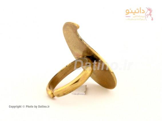 عکس انگشتر زنانه برنجی نیلسا-Datino.R.25 - انواع مدل انگشتر زنانه برنجی نیلسا-Datino.R.25