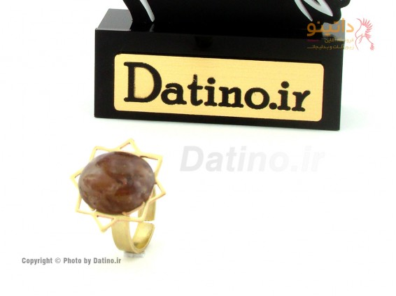 عکس انگشتر زنانه برنجی نگین اصل آریسا-Datino.R.27 - انواع مدل انگشتر زنانه برنجی نگین اصل آریسا-Datino.R.27