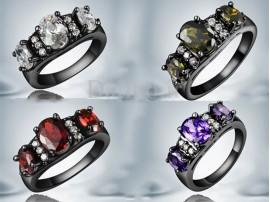 انگشتر زنانه طلا مشکی دلیکیت-Garro.R.12