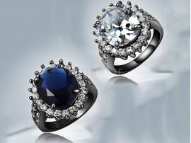 انگشتر زنانه طلا مشکی بلک سامر-Garro.R.3