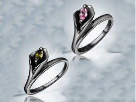 انگشتر زنانه طلا مشکی سلفیش-GARRO.R.6