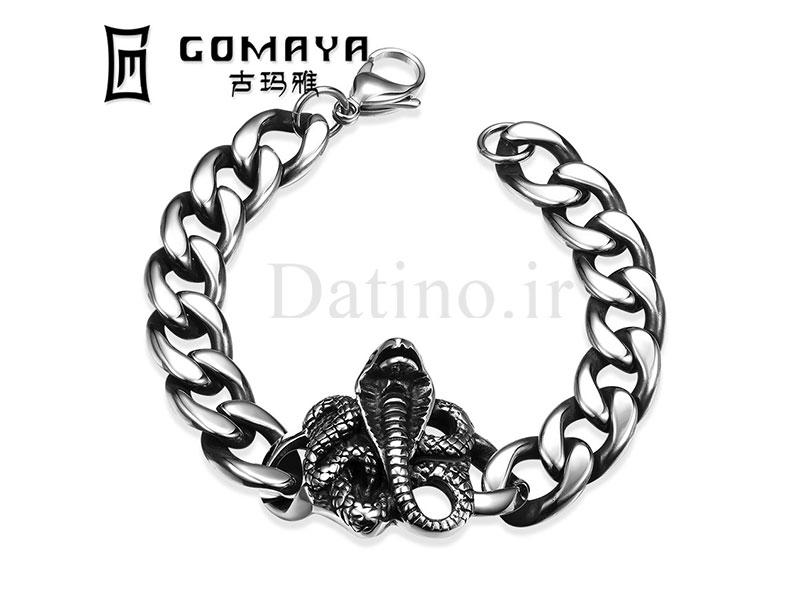 عکس دستبند مردانه مار کبری-Gomaya.B.3 - انواع مدل دستبند مردانه مار کبری-Gomaya.B.3