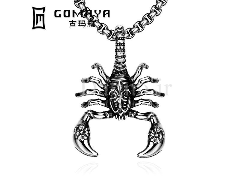 عکس گردنبند مردانه عقرب موبان-Gomaya.N.1 - انواع مدل گردنبند مردانه عقرب موبان-Gomaya.N.1