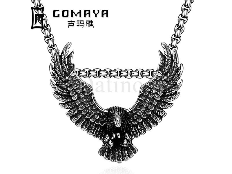 عکس گردنبند مردانه شاهین وینگال-Gomaya.N.2 - انواع مدل گردنبند مردانه شاهین وینگال-Gomaya.N.2
