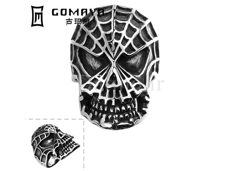 عکس انگشتر مردانه مرد عنکبوتی-Gomaya.R.1 - انواع مدل انگشتر مردانه مرد عنکبوتی-Gomaya.R.1