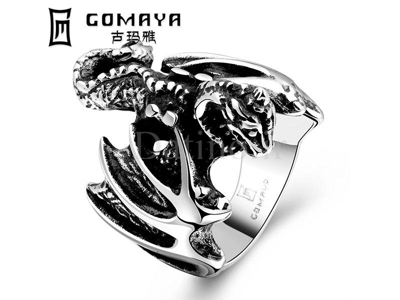 عکس انگشتر مردانه پتینوساروس-Gomaya.R.12 - انواع مدل انگشتر مردانه پتینوساروس-Gomaya.R.12