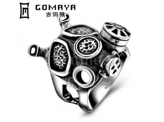 عکس انگشتر مردانه ماسک شیمیایی-Gomaya.R.15 - انواع مدل انگشتر مردانه ماسک شیمیایی-Gomaya.R.15