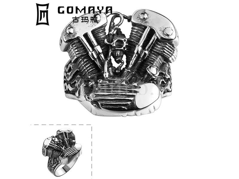 عکس انگشتر مردانه اسپیدی انجین-Gomaya.R.17 - انواع مدل انگشتر مردانه اسپیدی انجین-Gomaya.R.17