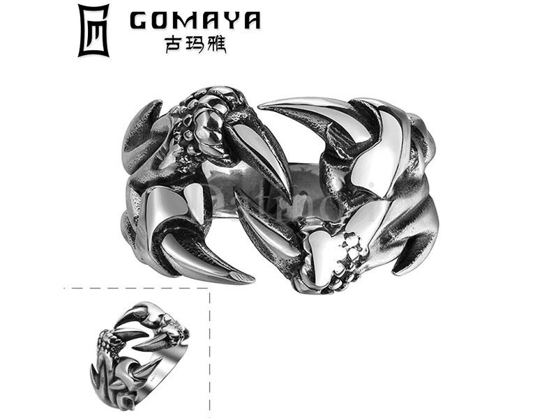 عکس انگشتر مردانه چنگال مرگ-Gomaya.R.19 - انواع مدل انگشتر مردانه چنگال مرگ-Gomaya.R.19