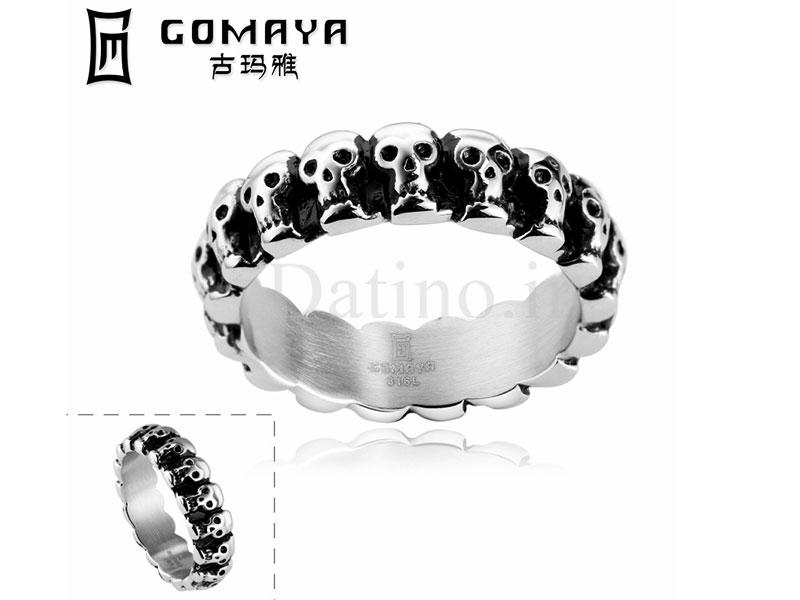 عکس انگشتر مردانه زنجیر جمجمه-Gomaya.R.20 - انواع مدل انگشتر مردانه زنجیر جمجمه-Gomaya.R.20