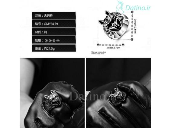 عکس انگشتر مردانه گرگ وحشی-Gomaya.R.25 - انواع مدل انگشتر مردانه گرگ وحشی-Gomaya.R.25