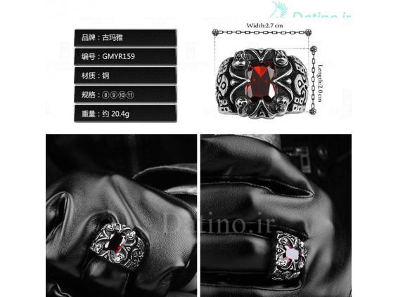 عکس انگشتر مردانه مرگ خاموش-Gomaya.R.26 - انواع مدل انگشتر مردانه مرگ خاموش-Gomaya.R.26