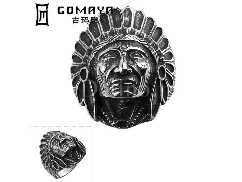 عکس انگشتر مردانه سرخپوست نزپرس-Gomaya.R.27 - انواع مدل انگشتر مردانه سرخپوست نزپرس-Gomaya.R.27