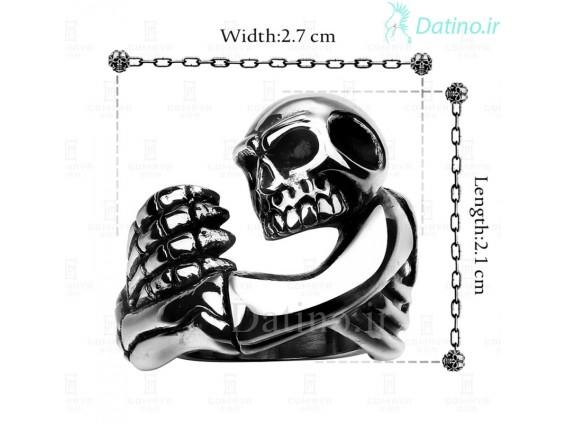 عکس انگشتر مردانه اسکلت مومیایی مایان-Gomaya.R.30 - انواع مدل انگشتر مردانه اسکلت مومیایی مایان-Gomaya.R.30
