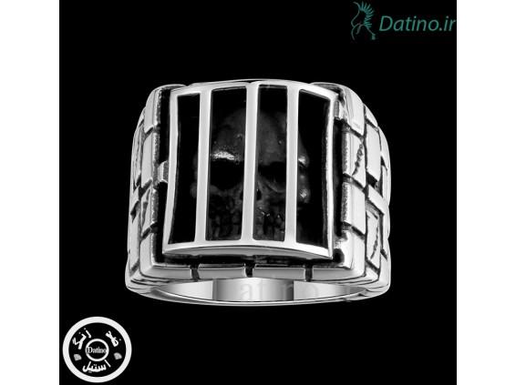 عکس انگشتر مردانه جمجمه در زندان-Gomaya.R.4 - مدل انگشتر مردانه جمجمه در زندان-Gomaya.R.4