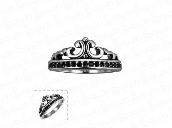 عکس انگشتر زنانه تاج ملکه وحشت gomaya-r-48 - انواع مدل انگشتر زنانه تاج ملکه وحشت gomaya-r-48