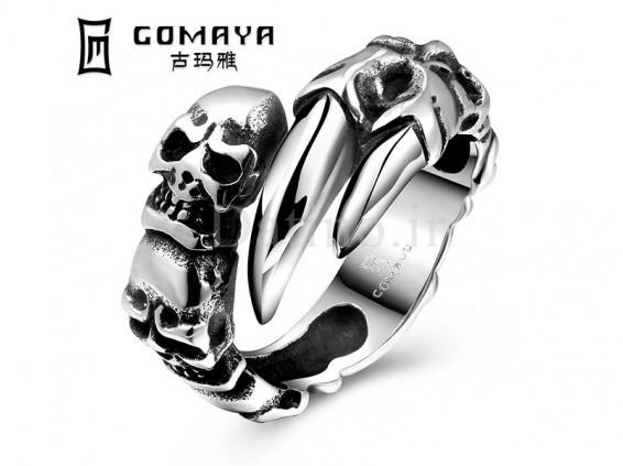 عکس انگشتر مردانه چنگ جمجمه ها-Gomaya.R.5 - انواع مدل انگشتر مردانه چنگ جمجمه ها-Gomaya.R.5