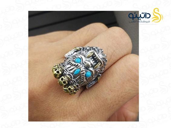 عکس انگشتر مردانه خدای ثروت gothic-r-18 - انواع مدل انگشتر مردانه خدای ثروت gothic-r-18