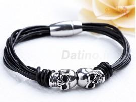 دستبند مردانه دو جمجمه-Xiaonuo.B.1