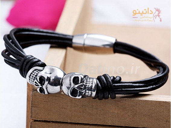 عکس دستبند مردانه دو جمجمه-Xiaonuo.B.1 - انواع مدل دستبند مردانه دو جمجمه-Xiaonuo.B.1