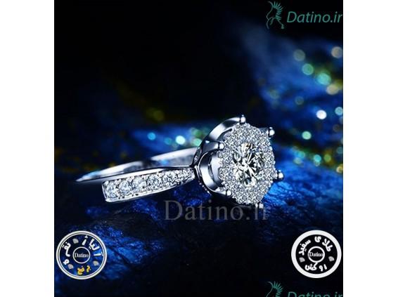عکس انگشتر زنانه الماس کیوت کویین-Royal.R.11 - انواع مدل انگشتر زنانه الماس کیوت کویین-Royal.R.11