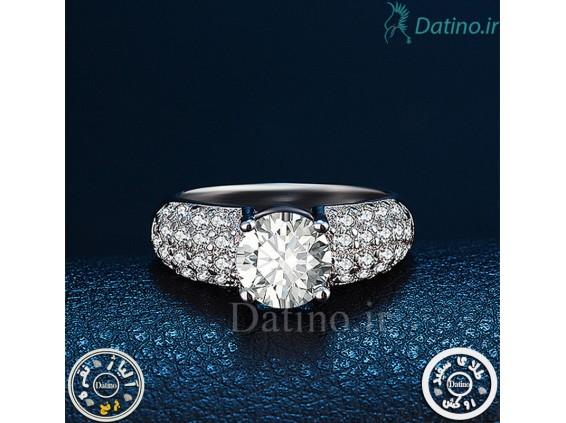 عکس انگشتر زنانه الماس انجیمت کلاسیک-Royal.R.15 - انواع مدل انگشتر زنانه الماس انجیمت کلاسیک-Royal.R.15